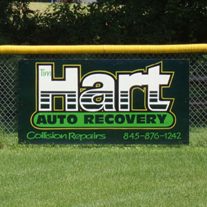 Tim Hart Auto Recovery Little League Sign